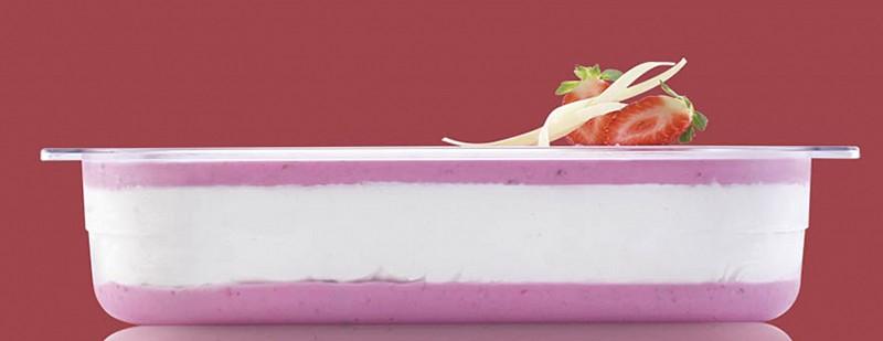 Posode za sladoled iz polikarbonata so vizualno bolj dovršene!