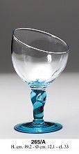 Steklen kozarec, moder pecelj 330ml ART.265/A