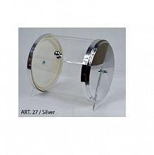 Posoda za žličke, cilinder srebrne barve Art.27