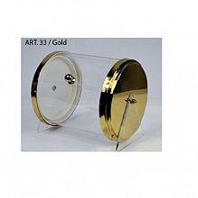 Posoda za žličke, cilinder zlate barve Art.33