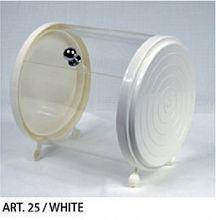 Posoda za žličke, cilinder bele barve Art.25