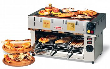 Pečica za tople sendviče s ploščo na vrhu, FOPV 2085