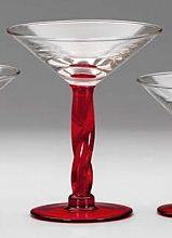 Steklen kozarec, rdeč pecelj 350ml ART.175/RE