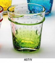 Steklen kozarec, zelen dekor 270ml Art.407/V