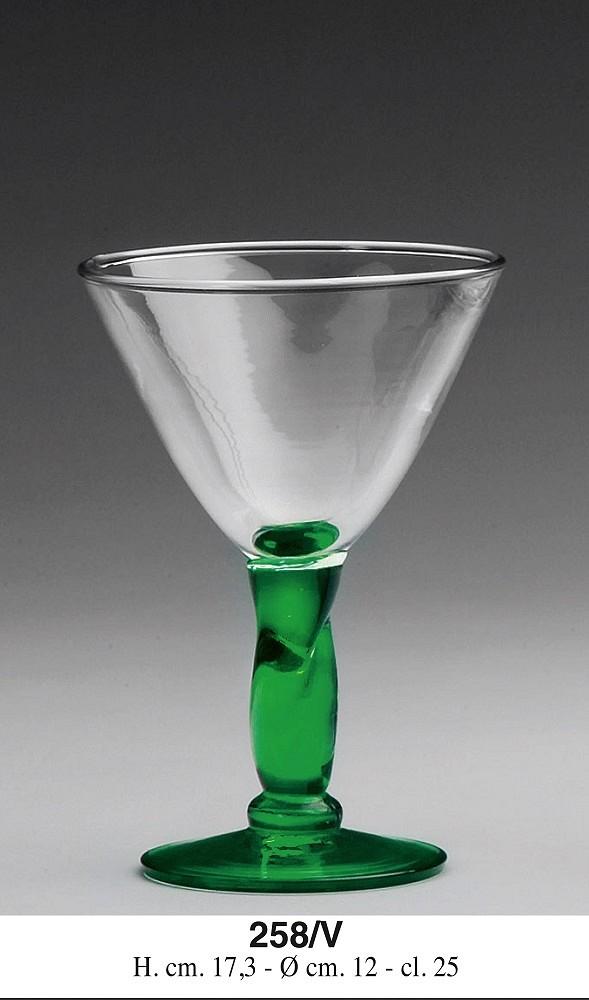 Steklen kozarec, zelen pecelj 250ml ART.258/V