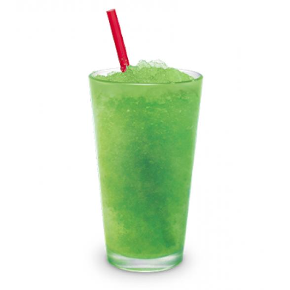 Granita z okusom zelenega jabolka